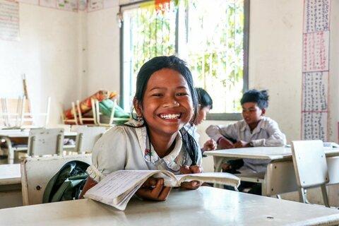 Un grande sorriso e un pasto sano in Cambogia
