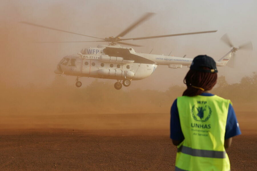 Burkina Faso: UN air service, UNHAS, managed by WFP Aviation, allows humanitarian access to remote locations such Fada N'Gourma in the Est region, pictured in February. Photo: WFP/Esther Ouoba